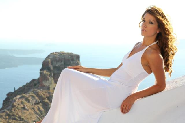 bridal hair and makeup santorini