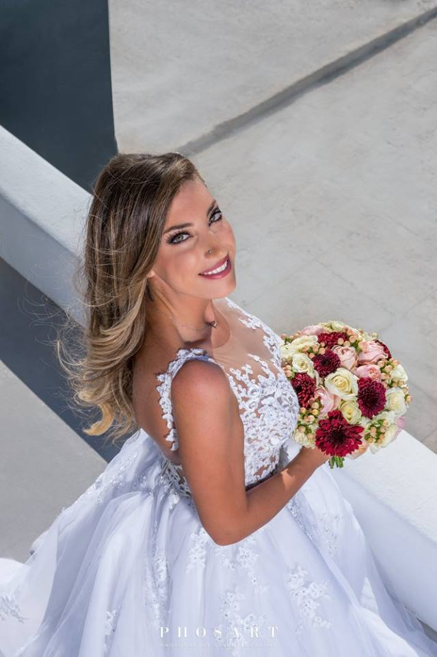 bridal makeup and hair santorini