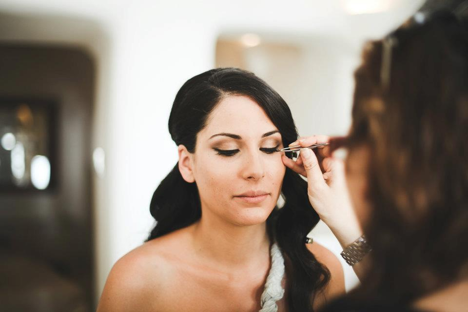 airbrush bridal makeup santorini